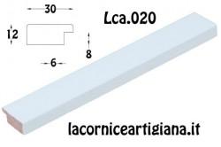 LCA.020 CORNICE 12X12 PIATTINA BIANCO OPACO CON VETRO