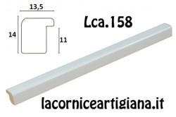 LCA.158 CORNICE 40X40 BOMBERINO BIANCO LUCIDO CON VETRO