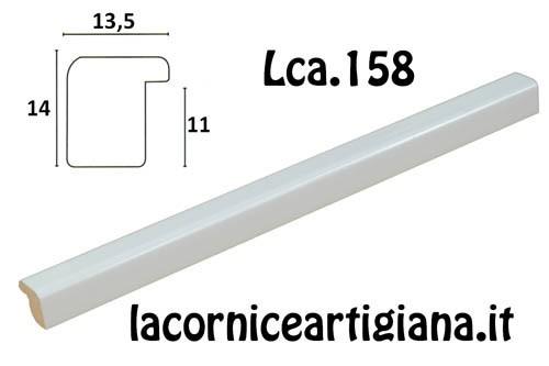 LCA.158 CORNICE 30X80 BOMBERINO BIANCO LUCIDO CON CRILEX