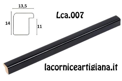 LCA.007 CORNICE 13X19 BOMBERINO NERO LUCIDO CON VETRO