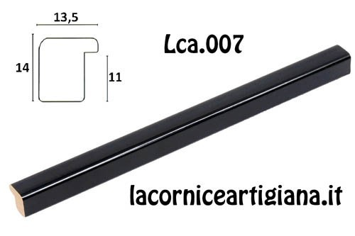 LCA.007 CORNICE 12X18 BOMBERINO NERO LUCIDO CON VETRO