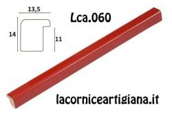 LCA.060 CORNICE 40X40 BOMBERINO ROSSO LUCIDO CON VETRO