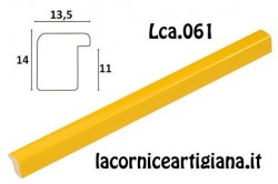 LCA.061 CORNICE 10X13 BOMBERINO GIALLO LUCIDO CON VETRO