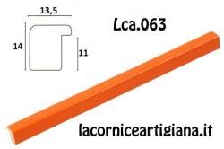 LCA.063 CORNICE 10X10 BOMBERINO ARANCIO LUCIDO CON VETRO