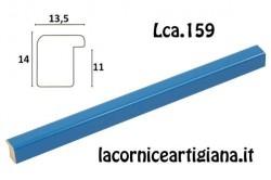 LCA.159 CORNICE 10X15 BOMBERINO AZZURRO LUCIDO CON VETRO