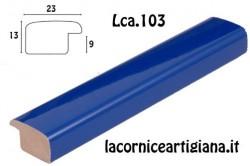 LCA.103 CORNICE SU MISURA BOMBERINO AZZURRO LUCIDO
