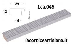 LCA.045 CORNICE 30x65 PIATTINA ARGENTO OPACO CON CRILEX