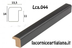 LCA.044 CORNICE 17,6X25 B5 BOMBERINO NERO OPACO CON VETRO