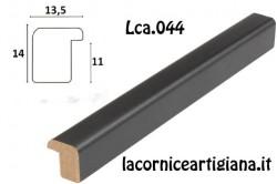 LCA.044 CORNICE 12X12 BOMBERINO NERO OPACO CON VETRO