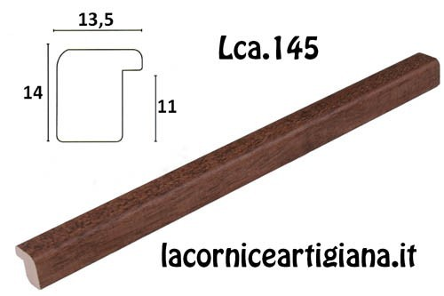 LCA.145 CORNICE 25X50 BOMBERINO NOCE OPACO CON CRILEX