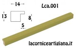 LCA.001 CORNICE 25X50 PIATTINA VERDE OPACO CON CRILEX