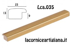 LCA.035 CORNICE 17,6X25 B5 BOMBERINO ORO OPACO CON VETRO