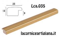 LCA.035 CORNICE 10X13 BOMBERINO ORO OPACO CON VETRO