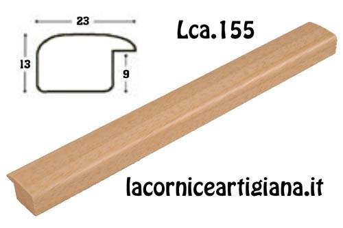 LCA.155 CORNICE 20X20 BOMBERINO NATURALE OPACO CON VETRO