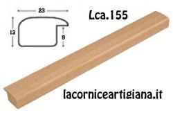 LCA.155 CORNICE 10X10 BOMBERINO NATURALE OPACO CON VETRO