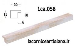 LCA.058 CORNICE 30X65 PIATTINA ORO SPAZZOLATO CON CRILEX