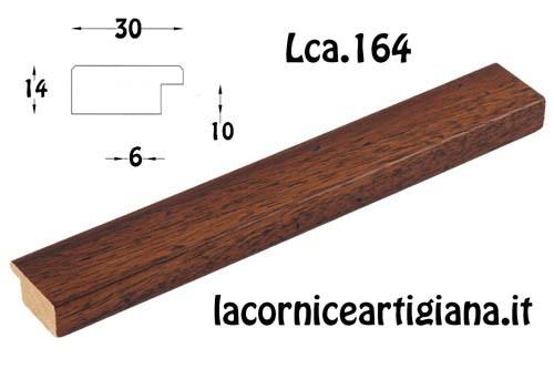 LCA.164 CORNICE 30X40 PIATTINA NOCE TARLATA CON VETRO
