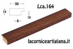 LCA.164 CORNICE 10X13 PIATTINA NOCE TARLATA CON VETRO