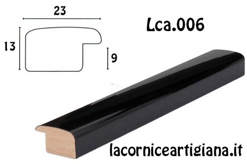 LCA.006 CORNICE 40X50 BOMBERINO NERO LUCIDO CON CRILEX