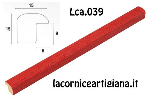 LCA.039 CORNICE 42X59,4 A2 BOMBERINO ROSSO OPACO CON CRILEX