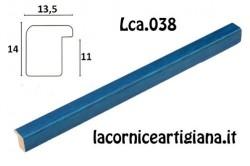LCA.038 CORNICE 17,6X25 B5 BOMBERINO BLU ANILINA CON VETRO