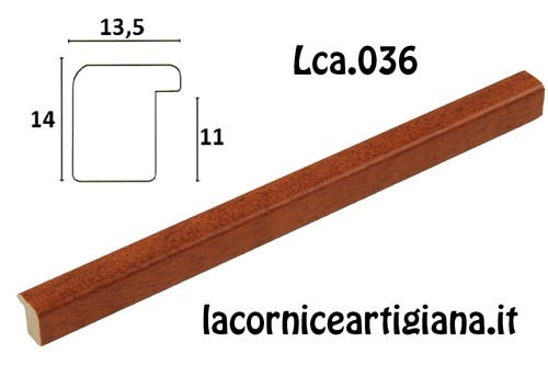 LCA.036 CORNICE 60X80 BOMBERINO CILIEGIO OPACO CON CRILEX