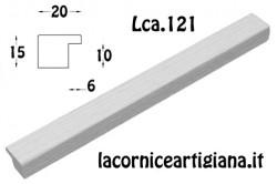 LCA.121 CORNICE 17,6X25 B5 PIATTINA BIANCO OPACO CON VETRO