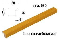 LCA.150 CORNICE 13X18 PIATTINA GIALLO OPACO CON VETRO